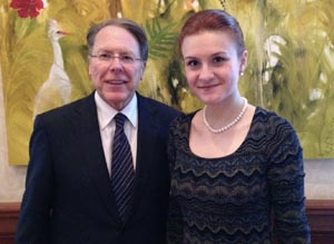 The NRA's Wayne LaPierre helped give Russian agent Maria Butina entree into U.S. right-wing circles.