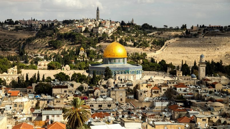 The Dome of the Rock mosque has stood on the Temple's site for 1300 years. It is a flash point between Jews and Muslims in the heart of Jerusalem.