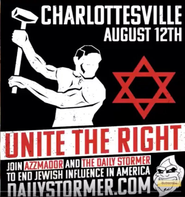 The 'very fine people' Trump mentioned who descended on Charlottesville in 2018 were explicitly antisemitic.