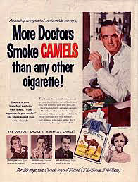 The white coat implied medical sanction for smoking.
