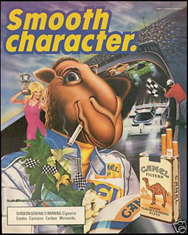 The 'Joe Camel' ad campaign successfully used a cartoon character to attract children to cigarettes.