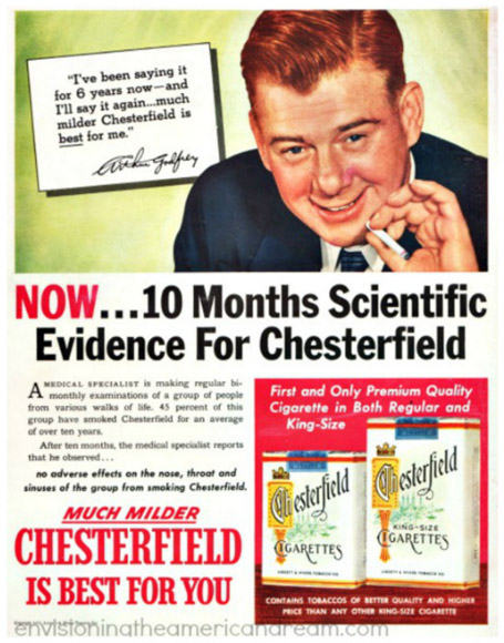 Arthur Godrey, a celebrity face for 'scientific' lies about tobacco's dangers.