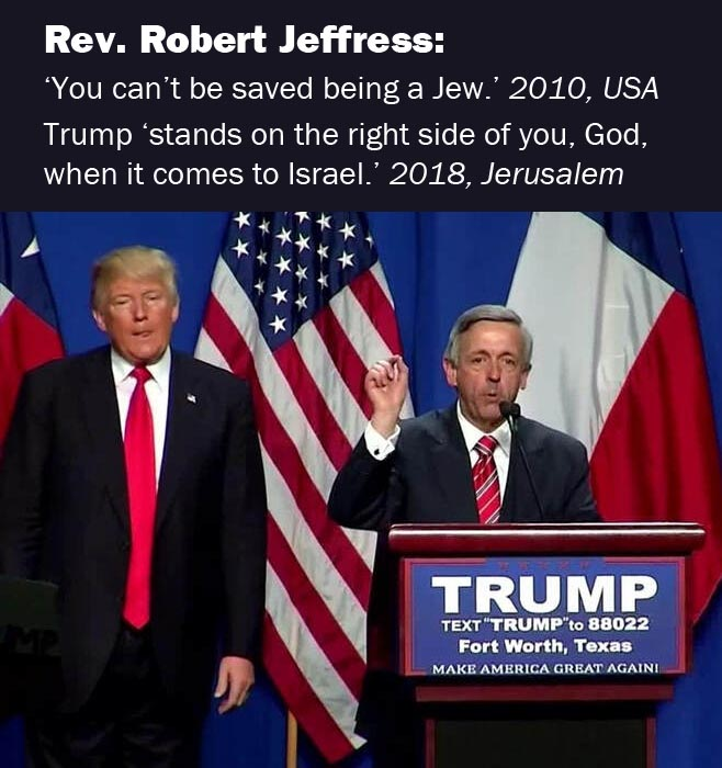 Like this Southern Baptist preacher, millions of evangelicals think Jews are bound for hell, but will play a useful role in bringing on Armageddon.