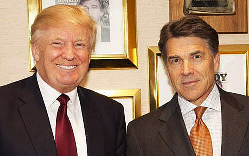 Rick Perry once called Trump a cancer on conservatism. But after accepting a cabinet post, he decided that however imperfect, Trump is God's instrument.